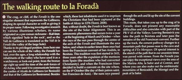 La Forada words